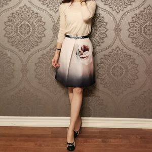 Coast UK floral ombre midi skirt